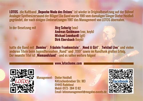 """LOTOS - Die Kultband """"Depeche Mode des Ostens"""" ist wieder in Originalbesetzung auf der Bühne"""