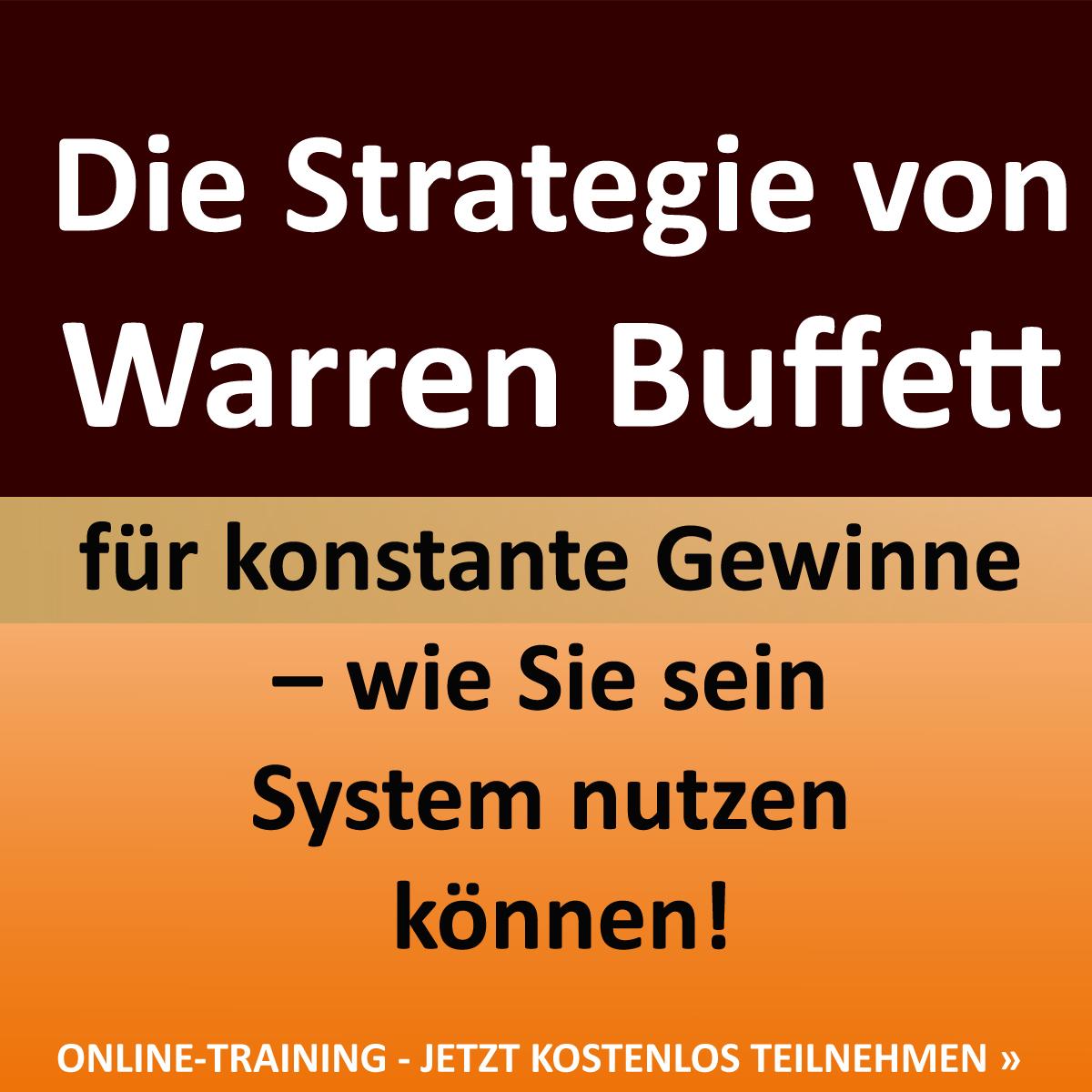 💎🌟 Der Weg zum Erfolg - Die Strategie von Warren Buffett für konstante Gewinne – wie Sie sein System nutzen können! ONLINE-TRAINING - JETZT KOSTENLOS TEILNEHMEN » https://goo.gl/92D3Gd 🌟💎
